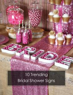 top 10 trending bridal shower signs decoration ideas for 2015 #BridalShower #ElegantWeddingInvites