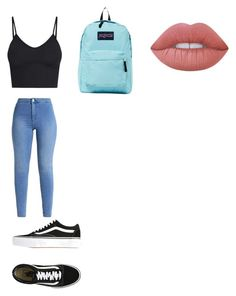"""What to wear to meet mackenzieziegler And johnnyorlando"" by vanessajselman on Polyvore featuring Vans, JanSport and Lime Crime"
