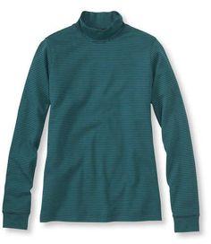 Bean's Interlock Mock-Turtleneck, Stripe  #bean #turtleneck #stripe #mock #interlock #tee #shirt #clothing #clothes #apparel #women #fashion #coffeetable  Found on www.coffeetable.com!