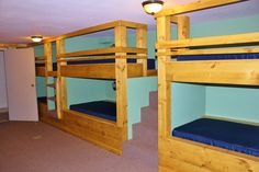 The Green Room of the Retreat Center can sleep 12 in twin size bunk beds.