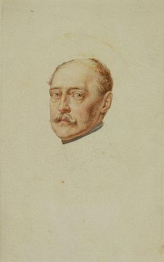 Кристина Робертсон. Портрет императора Николая l. Бумага, акварель. 18,1 - 14,1 см. 1850 год. Музей Хиллвуд. Вашингтон.