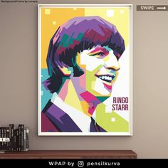 """Sir Richard Starkey known professionally asRingo Starr, is an English musician, singer, songwriter and actor who gained worldwide fame as the drummer forthe Beatles. He occasionally sang lead vocals with the group, usually for one song on each album, including """"Yellow Submarine"""", """"With a Little Help from My Friends"""" and theircoverof """"Act Naturally"""". He also wrote and sang the Beatles' songs """"Don't Pass Me By"""" and """"Octopus's Garden"""", and is credited as a co-writer of others.. . Art by @pensil Beatles Songs, The Beatles, Pop Art Face, Richard Starkey, Yellow Submarine, Ringo Starr, Writer, Singer, Concept"""