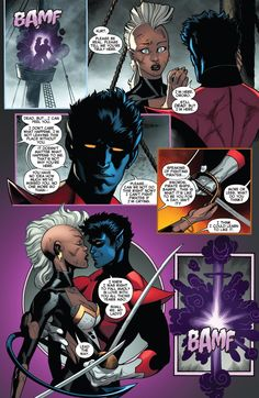 Amazing X-Men #3 (2013)  Nightcrawler and Storm