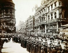 Horse Guards passing Mappin & Webb on Cheapside during Queen Victoria's Golden Jubilee