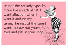 Except I do love cats..