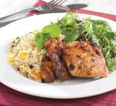 Grilled Spiced Chicken on Fruity Couscous