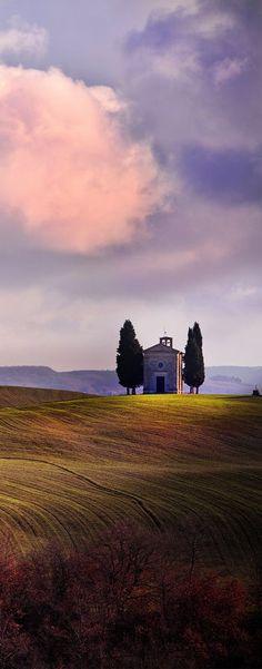 Cappella della Madonna di Vitaleta (1184). Toscana, Italia