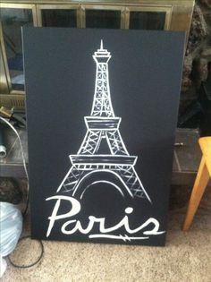My Eiffel Tower painting. Paris #britart