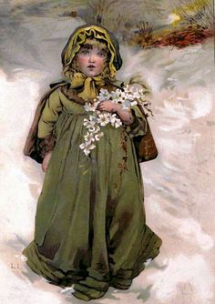 Shop Vintage Winter Snow Girl Postcard created by JustRightGraphics. Personalize it with photos & text or purchase as is! Christmas Rose, Victorian Christmas, Vintage Christmas Cards, Christmas Images, Vintage Cards, Vintage Postcards, Christmas Postcards, English Christmas, Vintage Ephemera