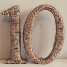 Twine wrapped table numbers #wedding #weddings #weddingsurprise #weddingdecor #weddingday #event #events #tabledecor #tagsforlikes #weddingdecoration #weddingdetails #weddingtables #weddingtable #weddingtabledecor #weddingtabledecoration #tabledecorations