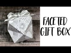 Faceted Gift Box for the InKing Royalty Blog Hop - The Paper Pixie