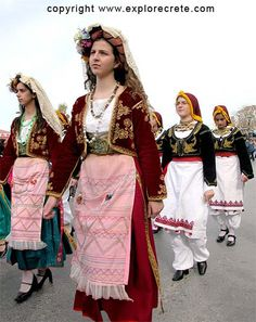 Independence Day Parade. Costumes of Corfu and Crete