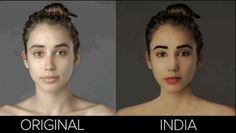 The results she received reveal dramatically diverse standards of beauty around the world.