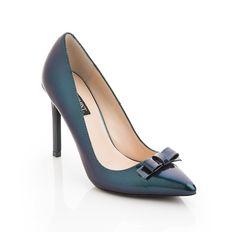 Petrol blue heels