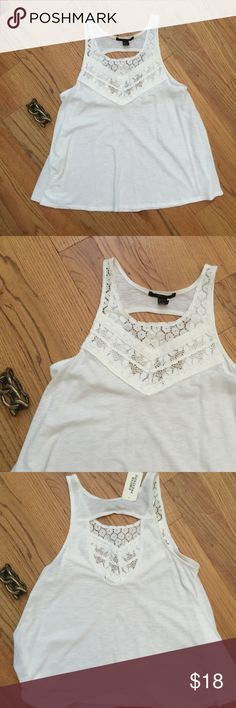 Eyelet Lace Bohemian Tank Top NWT no trades. Cotton blend. Beautiful top for summer. Forever 21 Tops Tank Tops