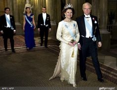 Queen Silvia wore this tiara for the Nobel Laureates Dinner on December 11, 2010.