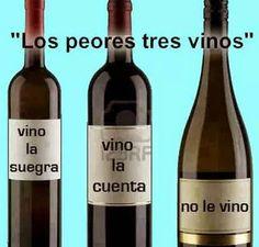chiste grafico los tres peores vinos
