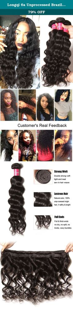Longqi 6a Unprocessed Brazilian Virgin Hair Natural Wave Pack of 3 Cheap Wavy Human Hair Bundles Deal (16 18 20inch, Natural Color). Hair Material 100% Human Hair Unprocessed Brazilian Virgin Hair Hair Feature 1. 100% Real Human Hair extensions 2. Soft and Thick, No Short Hair, Smooth, Full Cuticle 3. Natural Hair, No Shedding No Tangle, Double weft 4. Natural Color, Can Be Dyed, Bleached. Can be Curled and Permed. 5. Hair Durability: At Least 10 Months Under Good Care 6. 100% Top Hand...