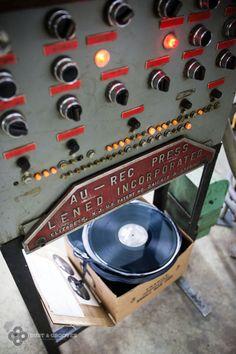 antique vinyl record press