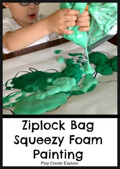 Ziplock Bag Squeezy Foam Painting