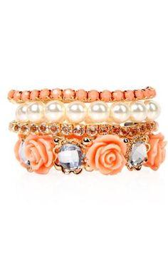 Deb Shops #floral #bracelet $8.62