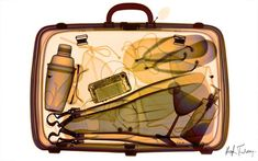 An x-ray of a packed suitcase, taken by British artist and photographer Hugh Turvey in London, England. (Photo by Hugh Turvey/SPL/Barcroft Media)