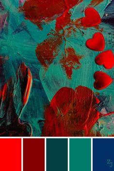 Color Schemes Colour Palettes, Red Colour Palette, Colour Colour, Color Art, Decoration Palette, Color Balance, Design Seeds, Color Swatches, Color Theory