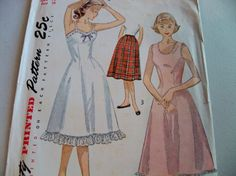 1951 Simplicity Pattern 3664 Size 10 Bust 28 Teen Age Girl