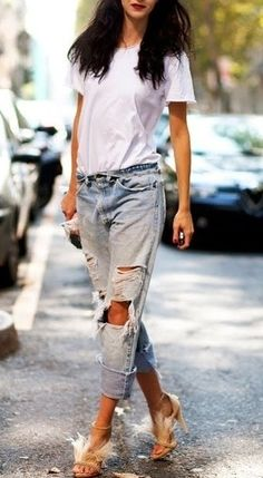 shredded jeans