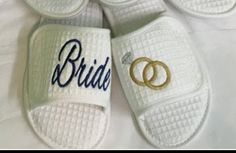 Items similar to Premium Velour slippers, Waffle weave Spa Slippers, Spa Slippers, White Bride Slippers, Attendant Gifts on Etsy Bride Slippers, Wedding Slippers, Spa Slippers, Great Mothers Day Gifts, Mother Day Gifts, Custom Embroidery, Embroidery Ideas, Bridesmaid Gifts, Bridesmaids