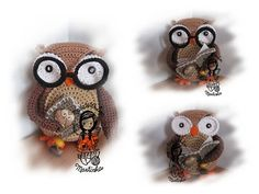 Crochet PATTERN 30 - Collectors item  01 Wise Owl.  $5.80 for pattern 6/14.