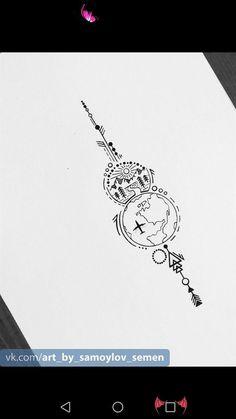 Zeichnungen # Zeichnungen Zeichnungen # Zeichnungen<br> Future Tattoos, New Tattoos, Body Art Tattoos, Small Tattoos, Tattoos For Guys, Cool Tattoos, Tatoos, Globe Tattoos, Creative Tattoos