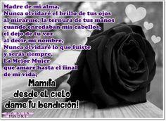 Versos a una madre fallecida con rosa de luto