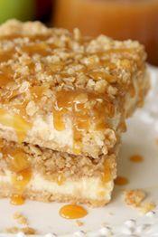 Caramel Apple Cheesecake Bars - OBB