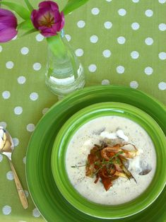 Magnificent Cream of Mushroom Soup with Crispy Leeks