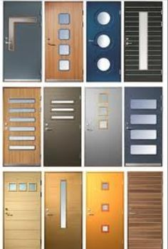 Various modern door designs .I want them all - Various modern door designs . Modern Entry Door, Entry Doors, Modern Exterior Doors, Front Doors, Halls, Front Door Design, Modern Door Design, Cool Doors, Mid Century House
