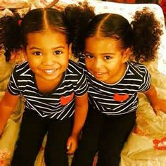 Photo: Twins / African American & Peruvian