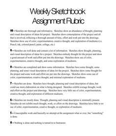 Grading rubric for sketchbook assignments- Great way to do homework in the art class. Allows for students to be more creative outside of in class assignments while still getting credit. Sketchbook Assignments, Art Assignments, Art Rubric, Rubrics, Art Prompts, Middle School Art, Art School, Art Doodle, Art Critique