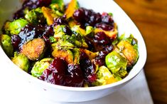 cranberry balsamic brussel sprouts   # lunch box bunch blog (  vegan recipes)
