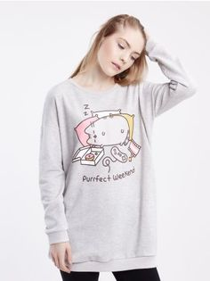 SINSAY - Bluza z nadrukiem PUSHEEN © PUSHEEN CORP 2014 ALL RIGHTS RESERVED