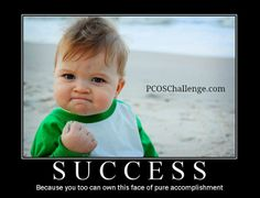 Looking for a pick-me-up on this triumphant Thursday evening? From weight-loss to fertility, PCOSChallenge.com has #PCOS success stories abound!  #PCOS #PCOSChallenge #Cysters #Motivate #Inspiration