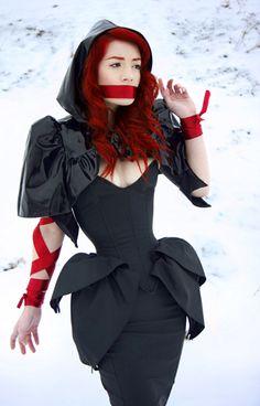 Kinetic zippered overbust corset