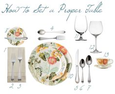 proper way to set a table | tasty treats | pinterest | table settings