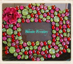 Hot Pink and Lime Green Picture Frame – www.stonefrenzy.com