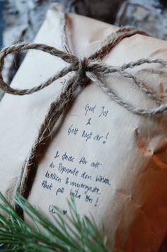 brown craft paper + twine