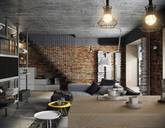 BUNKER, Moscow, 2014 - Tatyana Bobyleva. Just the right kind of low ceilings to model the apartment after