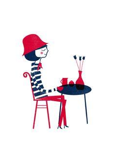 Blanca Gomez Affiche Parisienne - Blanca Gomez, Mes Habits Chéris - kidstore Récréatif - Décoration enfant