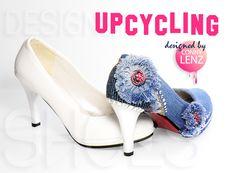 Upcycling Denim-Shoes #DIY #Denim #Fashion