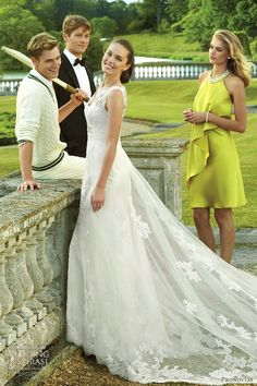 """the mesmerizing Pronovias """"Bering"""". Unfortunately not suited for a beach wedding with its long train."""