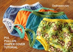 PUL pull-on diaper cover tutorial